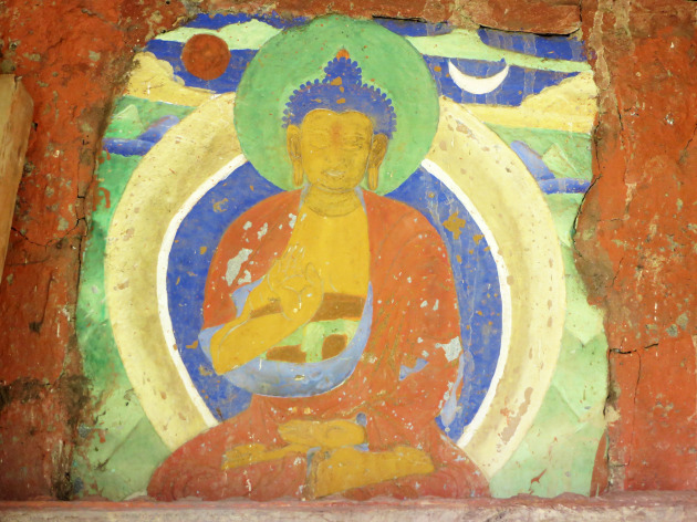 Ancient buddha fresco2