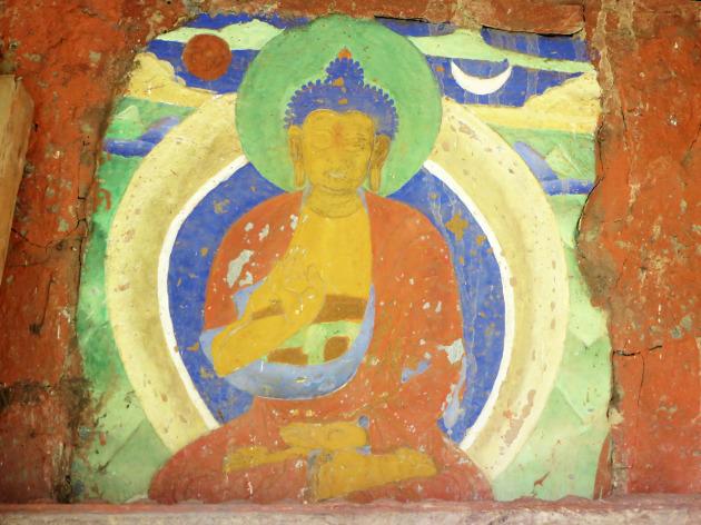Ancient buddha fresco2