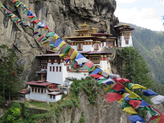 Iconic Tiber's Nest, also called Paro Taktshang